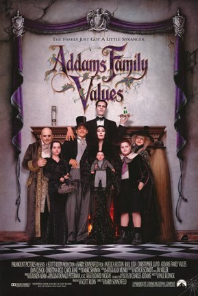 Framed Addams Family Values - Posed Family Print
