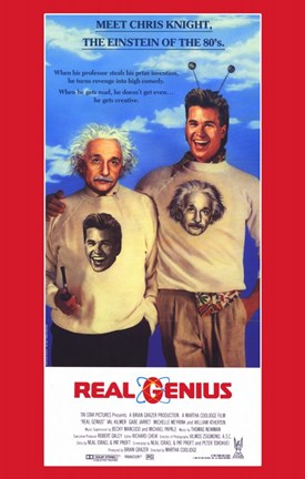 Framed Real Genius Print