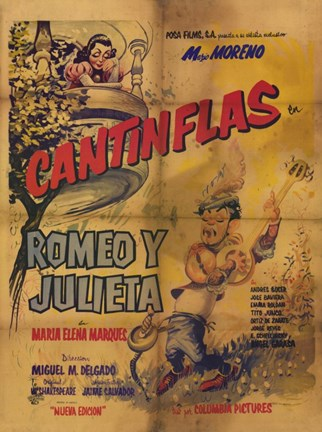 Framed Romeo and Juliet (spanish) cantinflas Print