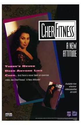 Framed Cher Fitness Print