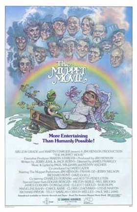 Framed Muppet Movie Kermit Print