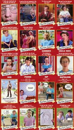 Framed Napoleon Dynamite Characters Print