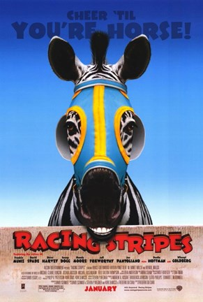 Framed Racing Stripes Print