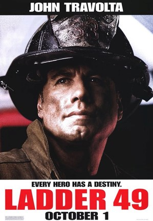 Framed Ladder 49 John Travolta Print