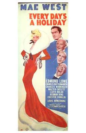 Framed Every Day's a Holiday Mae West And Edward Lowe Print