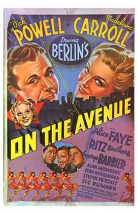 Framed On the Avenue Madeleine Carroll Print