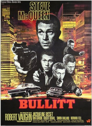 Framed Bullitt Shooting Print