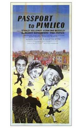 Framed Passport to Pimlico Print
