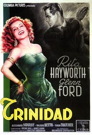 Framed Affair in Trinidad Rita Hayworth Print