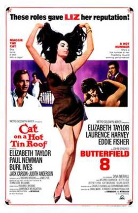 Framed Cat on a Hot Tin Roof Elizabeth Taylor Print