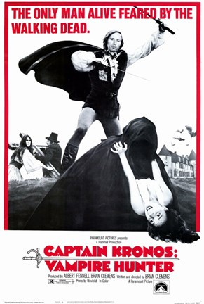 Framed Captain Kronos: Vampire Hunter Print