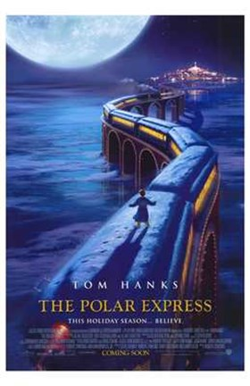 Framed Polar Express Scaling Train Print