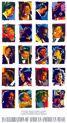 Framed in Celebration of African-American Music Print