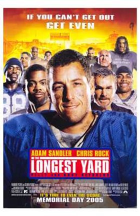 Framed Longest Yard Adam Sandler Print