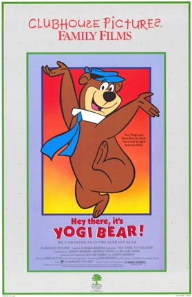 Hey There It S Yogi Bear Wall Poster By Unknown At