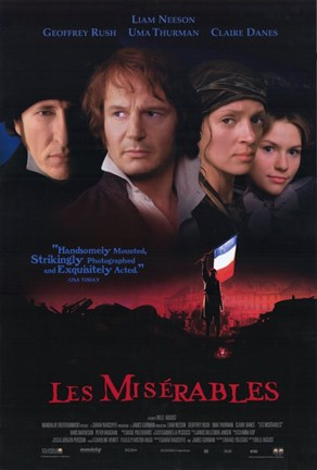 Framed Les Miserables Liam Neeson Print
