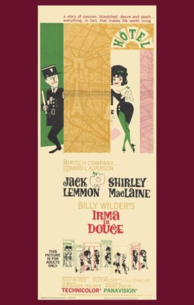 Framed Irma La Douce - tall Print