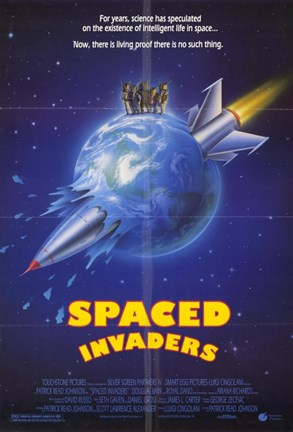 Framed Spaced Invaders Print