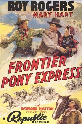 Framed Frontier Pony Express Print
