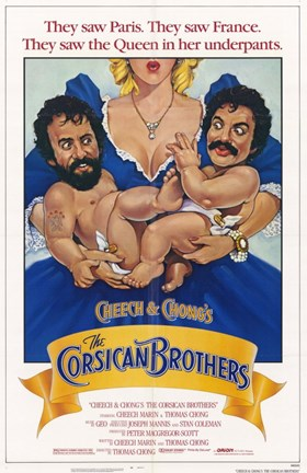 Framed Cheech and Chong's the Corsican Brothers Print