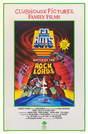 Framed Gobots Battle of Rock Lords Print