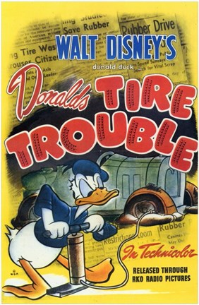 Framed Tire Trouble (movie poster) Print