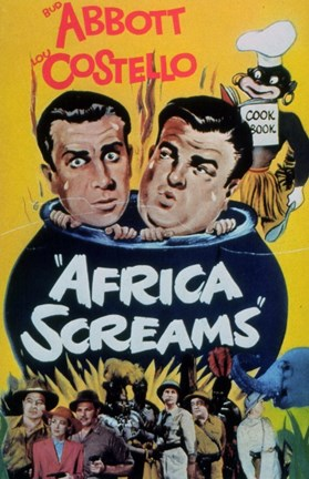 Framed Abbott and Costello, Africa Screams, c.1949 - style A Print