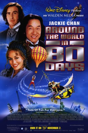 Framed Around the World in 80 Days by Disney Print