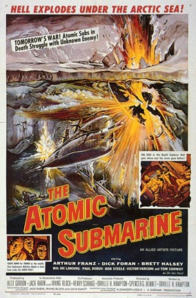 Framed Atomic Submarine Print