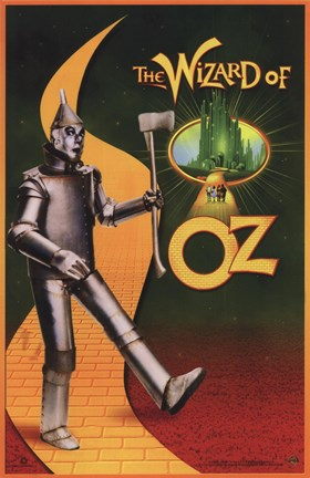 Framed Wizard of Oz Tin Man Print