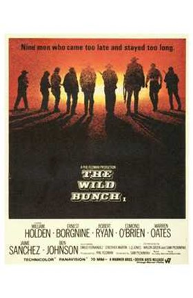 Framed Wild Bunch - movie Print