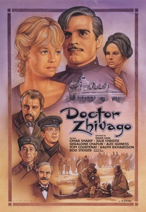 Framed Doctor Zhivago Drawing Print