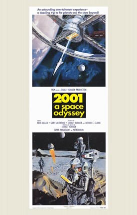 Framed 2001: a Space Odyssey Tall Print