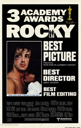 Framed Rocky 3 Academy Awards Print