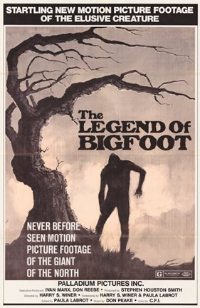 Framed Legend of Bigfoot Print