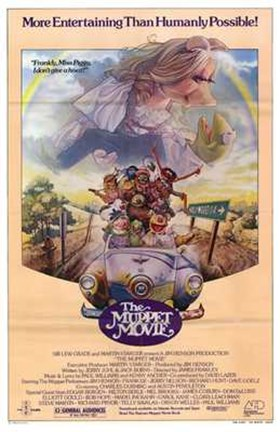 Framed Muppet Movie Miss Piggy Print