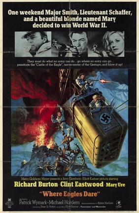 Framed Where Eagles Dare - movie cover Print