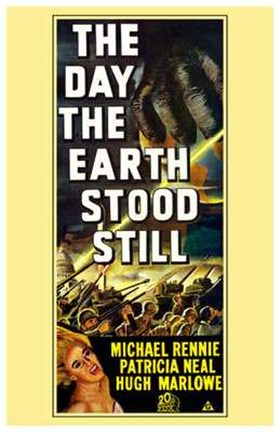 Framed Day the Earth Stood Still Michael Rennie Print