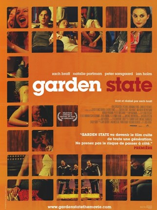 Framed Garden State - scenes in orange Print