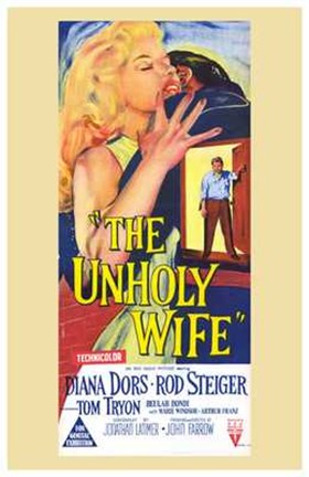 Framed Unholy Wife (movie poster) Print