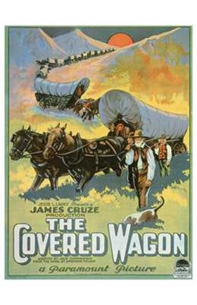 Framed Covered Wagon Print
