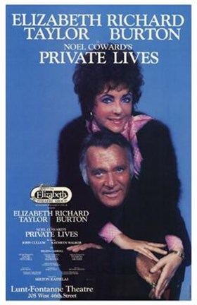 Framed Private Lives (Broadway Play) Print