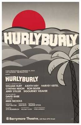 Framed Hurlyburly (Broadway Play) Print