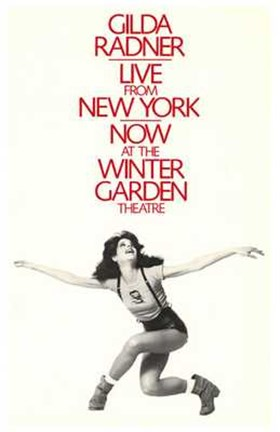 Framed Gilda Radner - Live from New York (Broadway) Print