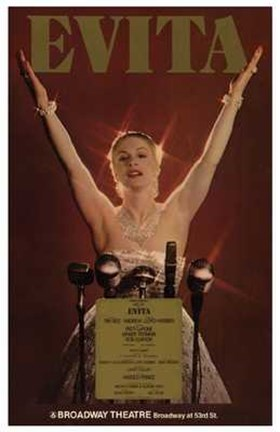 Framed Evita (Broadway Musical) Print