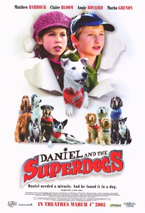 Framed Daniel and the Superdogs Print