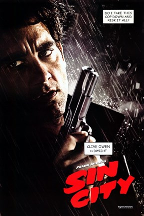 Framed Sin City Clive Owen as Dwight Print