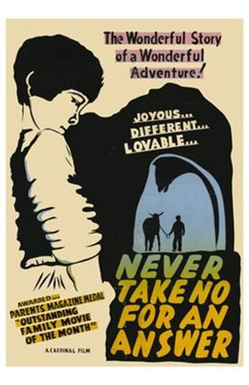 Framed Never Take No for an Answer Print