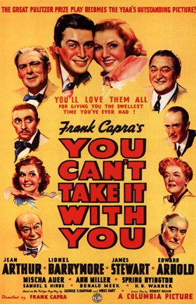 Framed You Can't Take it with You By Frank Capra Print