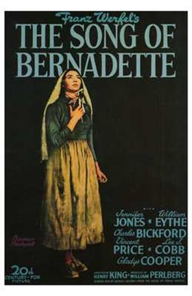 Framed Song of Bernadette Print